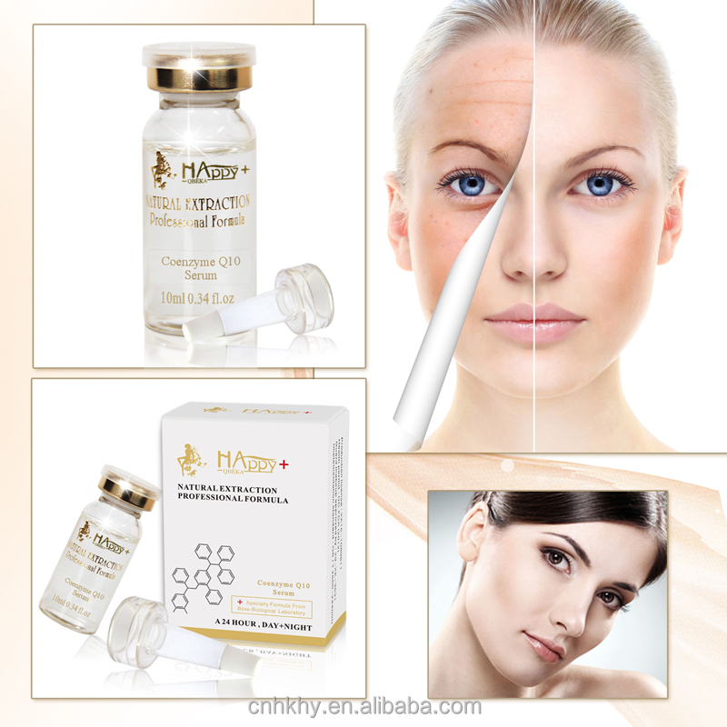 Private label Happy+ QBEKA Coenzyme <strong>Q10</strong> serum skin care serum best anti-wrinkle serum anti aging serum