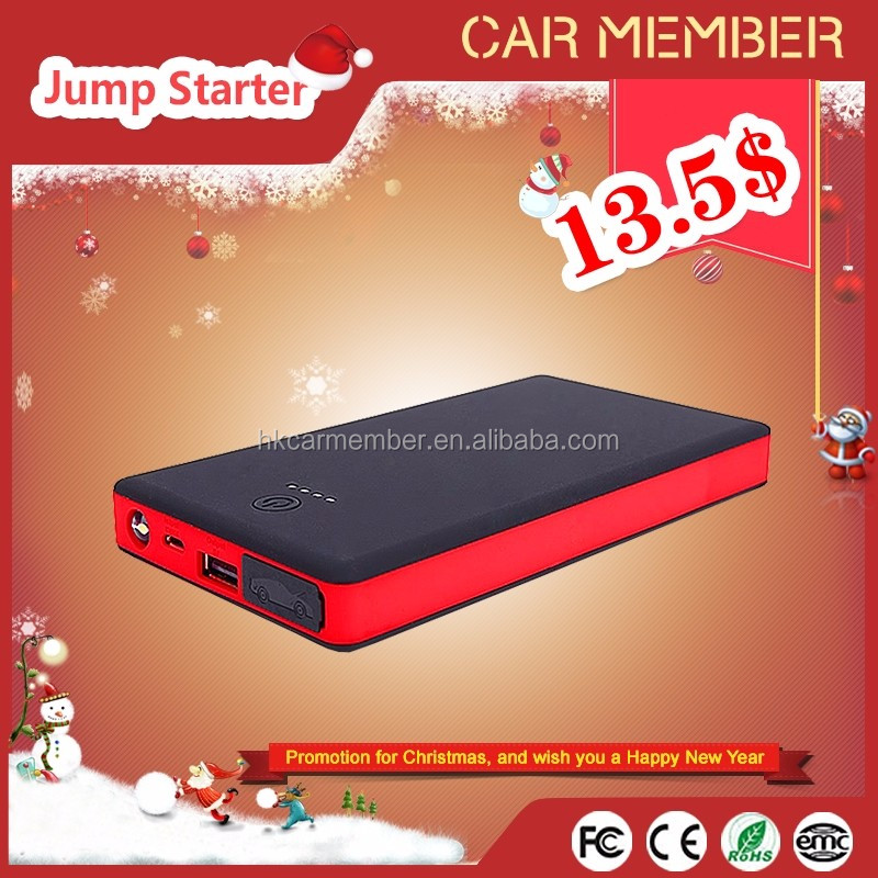 Car Member 12V 8000mAh multifunctional smart power bank