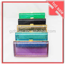 2013 new products,wholesale fashion transparent colorful acrylic clutch evening bag,clear purse,lady handbag,china