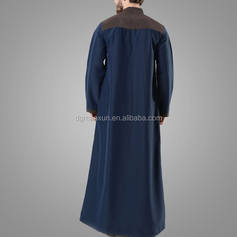 New Arrival Muslim Daffah Thobe Premium Quality Islamic Man Jubah Gentle Style Moroccan Clothes