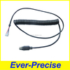 Mini din 6 pin black ps/2 cable,ps/2 spiral extension cable