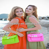 Candy Color Chain Leather Bag Purse