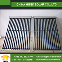 hot transfer coating slope roof all glass horizontal vacuum tube solar collectors