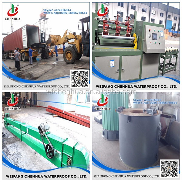Construction Industrial automatic APP SBS rubber sheet making machine