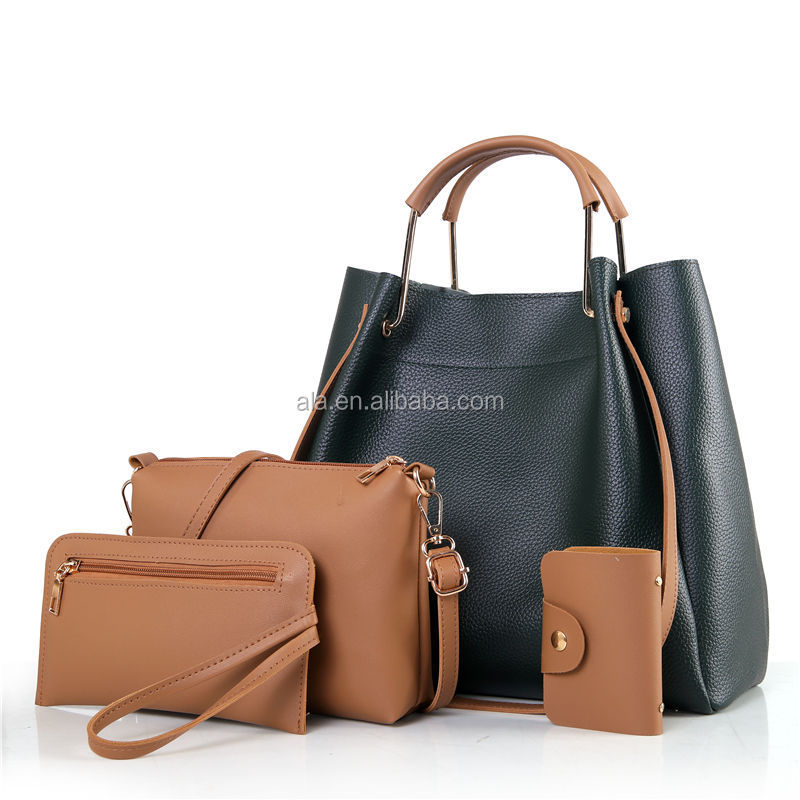 2017 Fashion Women Shoulder Bag Soft Leather OEM 3pcs in 1 Designer Handbags High Quality Women Tote Bag Ladies