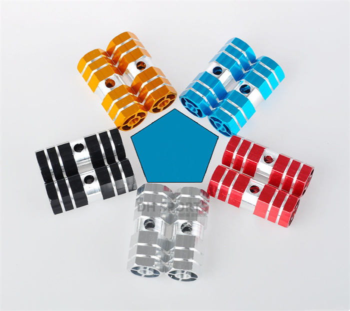 Bicycle Foot Pegs 1 Pair Aluminum <strong>Alloy</strong> Pegs Bike Cycling Bicycle <strong>Rear</strong> Stunt Foot Peg Six <strong>Axle</strong>