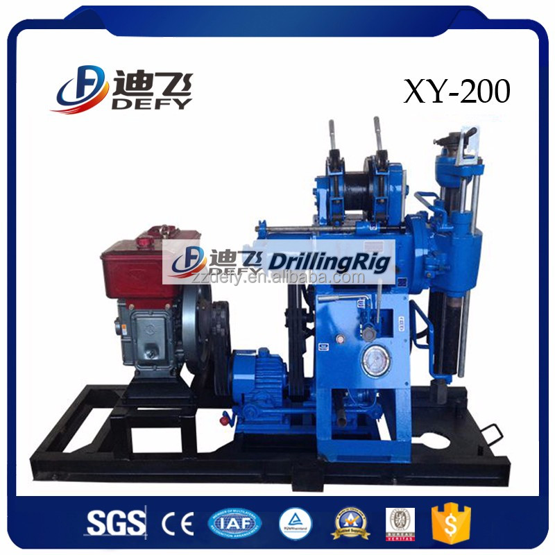 200m XY-200 small SPT equipment,soil testing core drilling rig machine