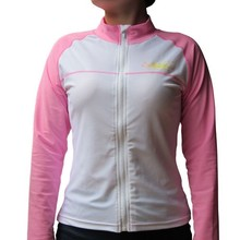 Quick shipping! In-Stock BONZ Ladies Pink UPF50+ Sun protection Front Full Zippered Swim Water Jacket Rash Guard Jacket