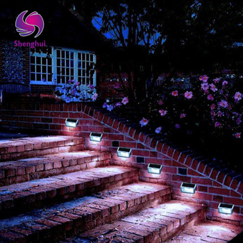 Energy Saving Solar Power LEDs Outdoor Waterproof Garden Pathway Stairs Lamp Light