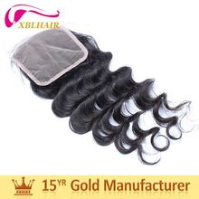 XBL hair natural color can be bleached full lace frontal closure