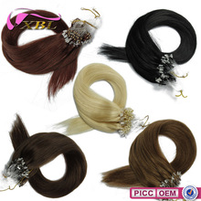 Different Human Hair Color 22 Inch Straight 100% Remy Micro Ring Hair Extensions