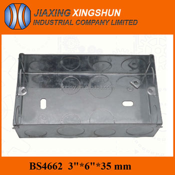 HOT Sale! Galvanized Steel decorative junction box/wall outlet box