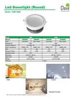 LED Downlight (Round) for Commercial and Industrial Buildings