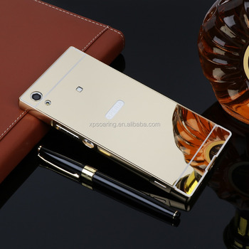 Mirror case with metal bumper for Sony Xperia XA1 Ultra