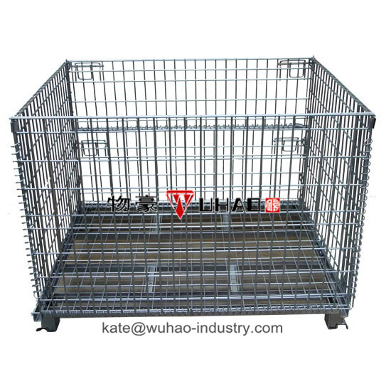 Wuhao Accept Custom Order and Packing Industrial Use pallet crate/bins/cages for sale