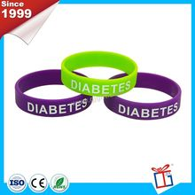 New color good quality silk screen printing silicone wristband