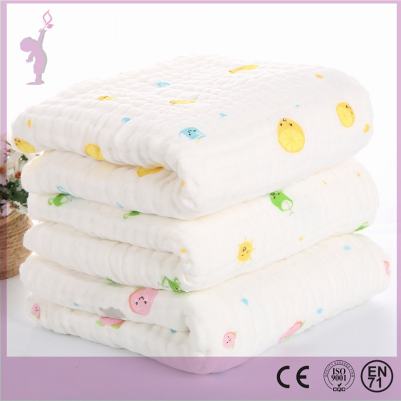 2017 Alibaba wholesale Soft Organic Cotton Hooded Baby 6 layer muslin blanket Towel/Bamboo Baby Hooded Towel