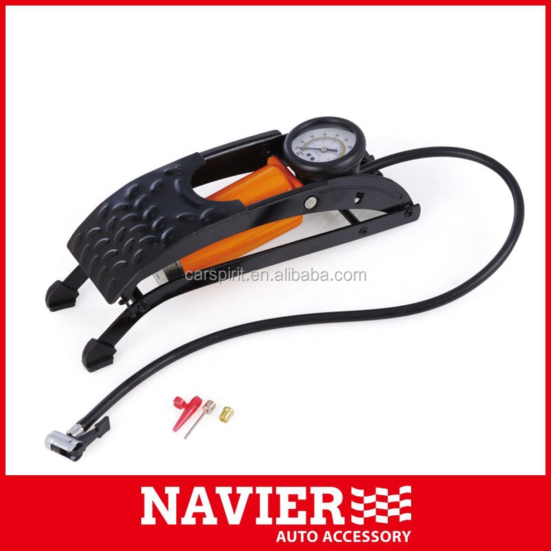 CHE Single cylinder foot Pump with pressure gauge