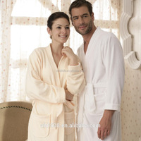 High Quality Trendy Design 100% Cotton Terry Hotel or Home Bath Bathrobe Long Sleeve Kimono Womens and men Gowns