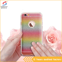 Hot selling crystal tpu glitter paper 2 in 1 phone case for iPhone 5