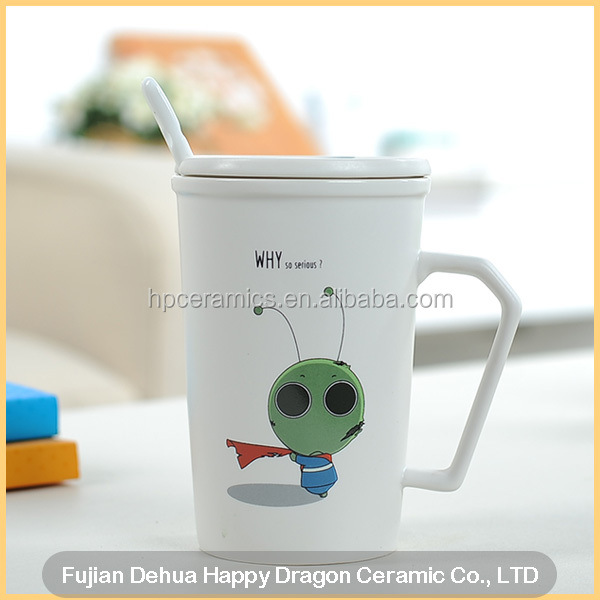 Fine Porcelain Mug With Cartoon Pattern why so serious
