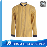 Classical Black and Yellow Striped Shirt Factory