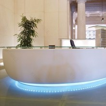 Modern italian solid surface bar counter design with LED