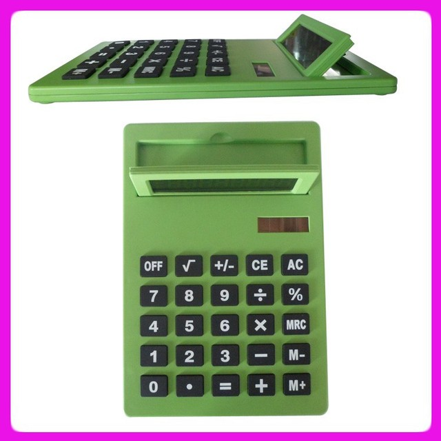 Exquisite A4 solar big size calculator,christmas gift calculator