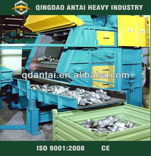 Crawler type shot blasting machine for small castings and heating treatment workpiece