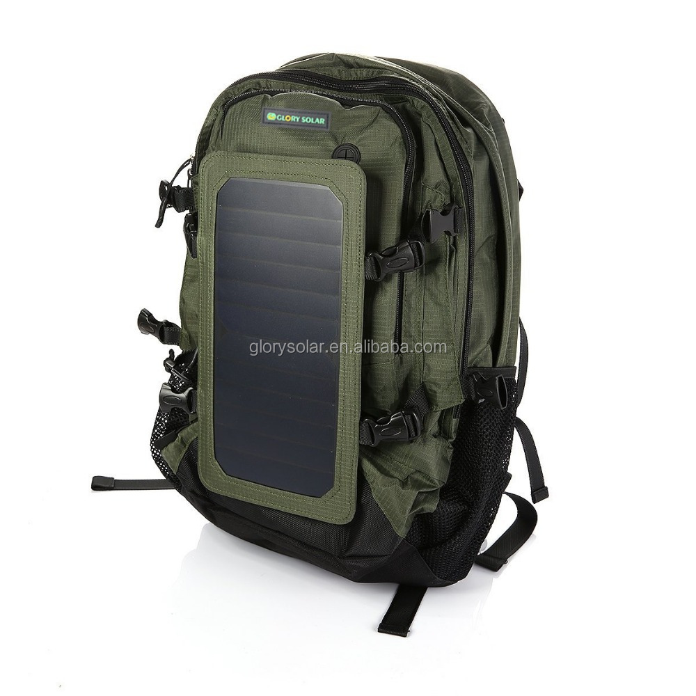 2016 fashion backpack with flexible solar panel