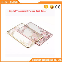 Soft TPU Silicone Back Case Cover Silk Slim crystal Transparent Flower Back Cover for iPad mini 1234