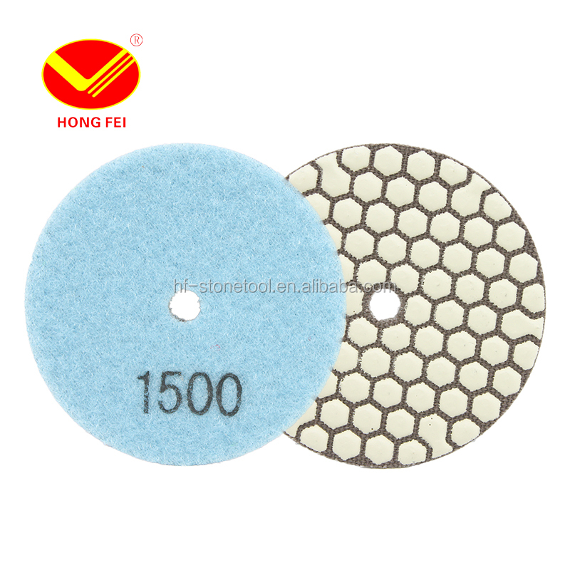 Floor Granite Angle Grinder hand Dry Diamond Polishing Pad for sale