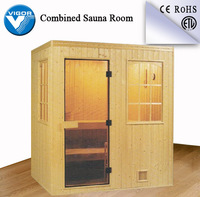 Best seller abachi wooden sauna room (Factory)