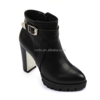 Buy 2015-2016 ladies leather lace up boots buckle casual dresses ...