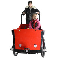 CE new design Danish bakfiets three wheels cargo tricycle diesel engine