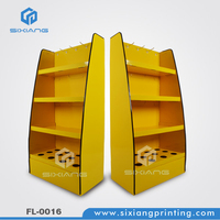 Cardboard Peg POP Display, Floor Cardboard Display with Plastic Hook