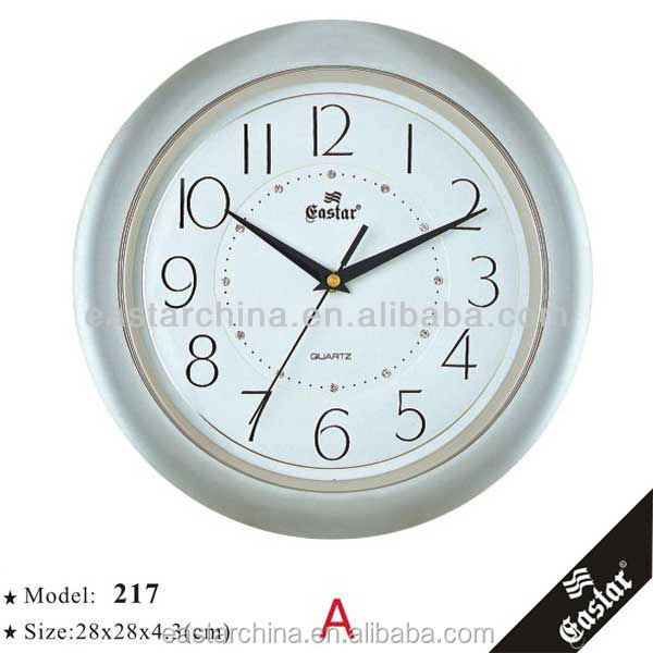 Decorative fancy wall clocks aluminous dial