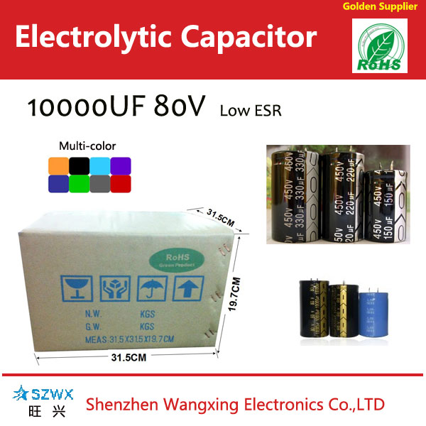 Snap in electrolytic capacitor 10000uf 80v