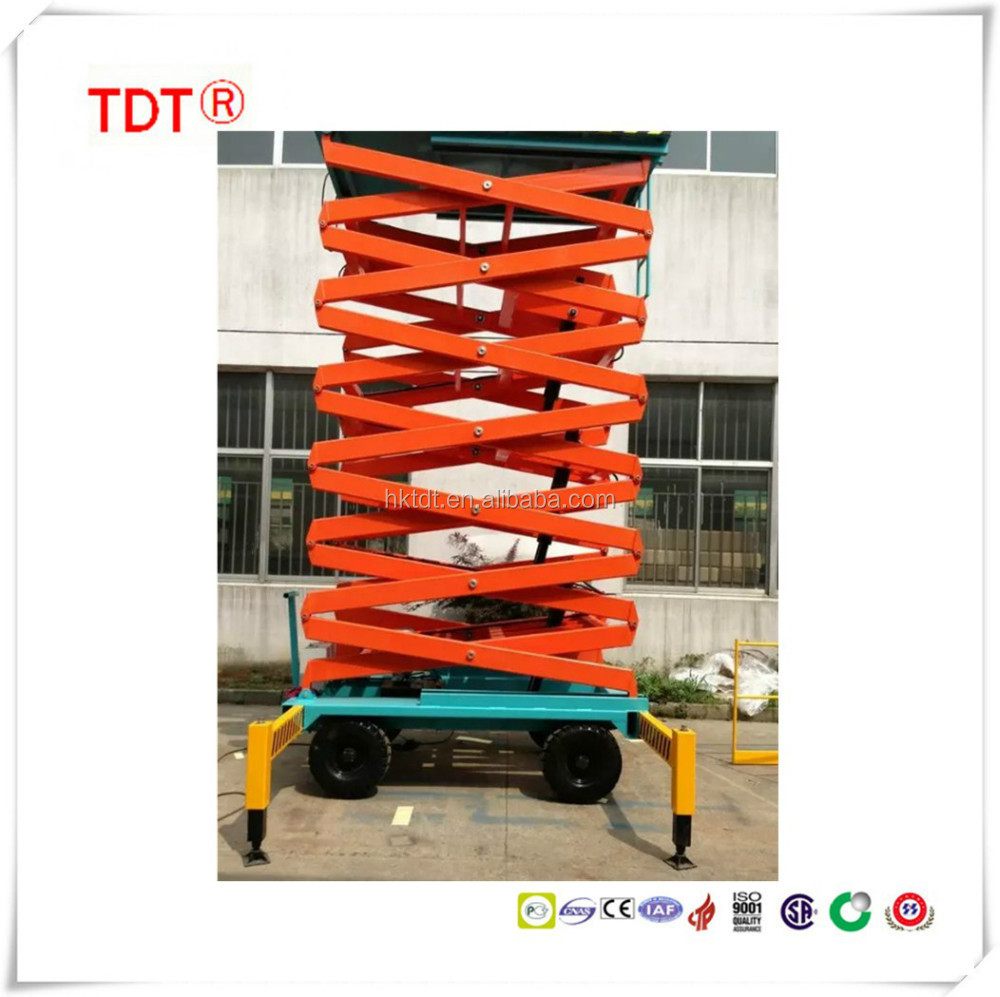 Mobile Scissors aerial working platform,easy move working table,electric lift table