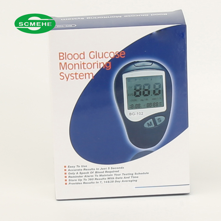 Hospital digital portable no coding quick check blood glucose meter with strip