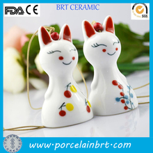 Charming smile japanese ceramic Cat Hanging Ornament