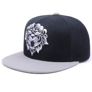 black cotton custom design your own lions embroidery logo flat bill  snapback hats 242c39824d54