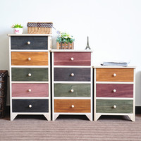 Ceramic tile board wooden storage cabinet for kitchen
