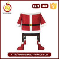 Cute Eco-friendly Wholesale Christmas santa claus chair cover
