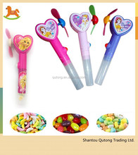 AAA battery heart shape beautiful girl high quality candy fan toy /candy fan