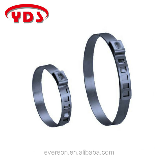 Stainless hose clamp clip for agricultural and woodworking machinery