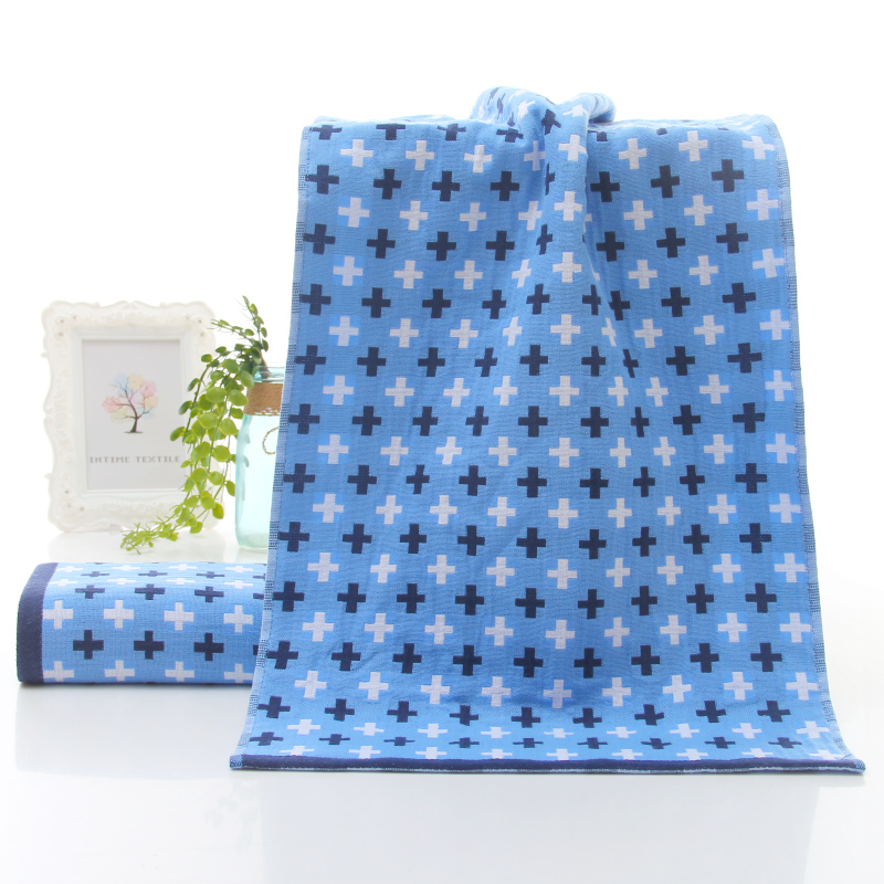 Chian factory 100 cotton gauze jacquard face towel design