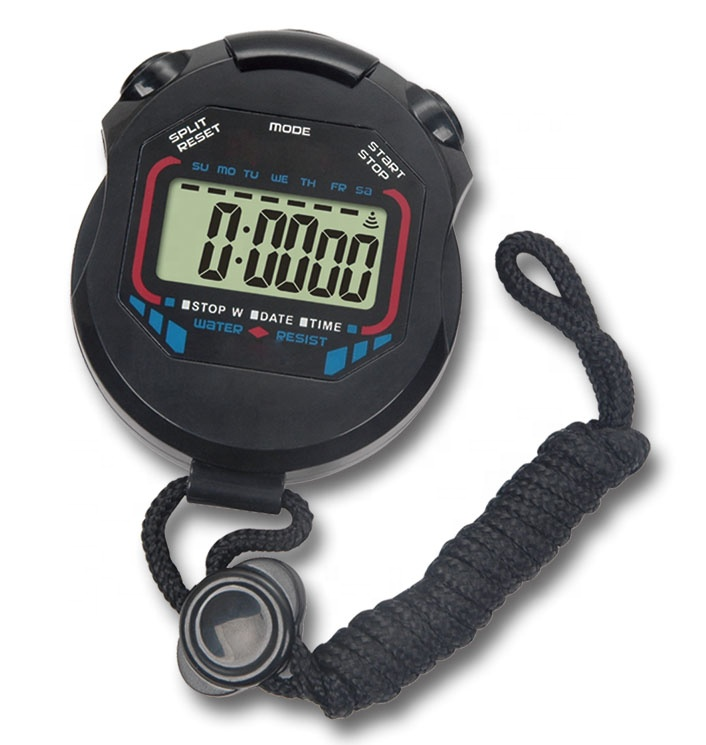 Professional digital sport stopwatch <strong>timer</strong> with waterproof and alarm function
