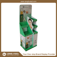 2015 Christmas promotional advertising stationery cardboard display stand with pedestals