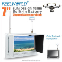 7inch diversity 5.8ghz monitor with rca hdmi input for rc model airplane